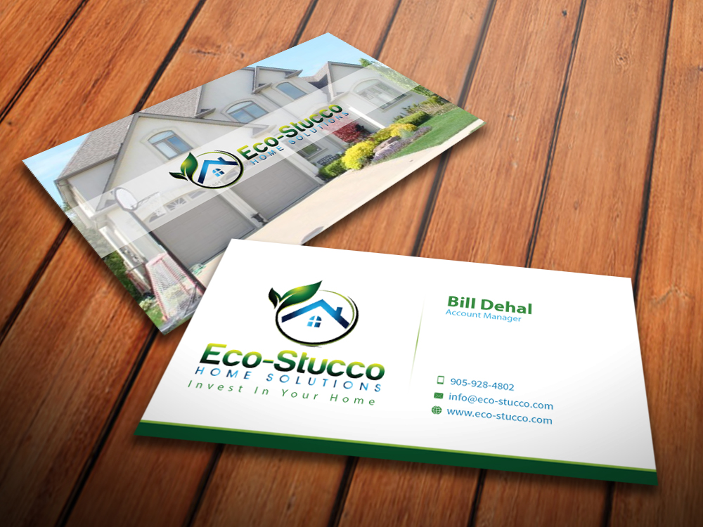 Business Card Design by mediaproductionart - Entry No. 49 in the Business Card Design Contest Inspiring Business Card Design for Eco-Stucco Home Solutions.