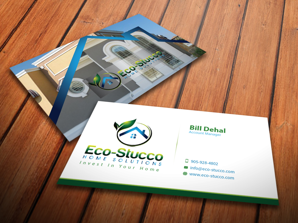 Business Card Design by mediaproductionart - Entry No. 50 in the Business Card Design Contest Inspiring Business Card Design for Eco-Stucco Home Solutions.