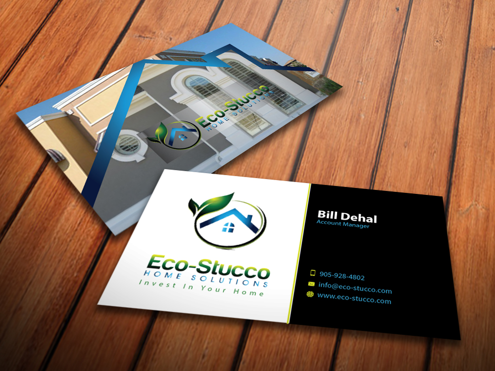 Business Card Design by mediaproductionart - Entry No. 51 in the Business Card Design Contest Inspiring Business Card Design for Eco-Stucco Home Solutions.