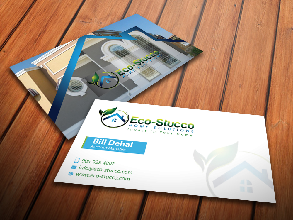 Business Card Design by mediaproductionart - Entry No. 52 in the Business Card Design Contest Inspiring Business Card Design for Eco-Stucco Home Solutions.