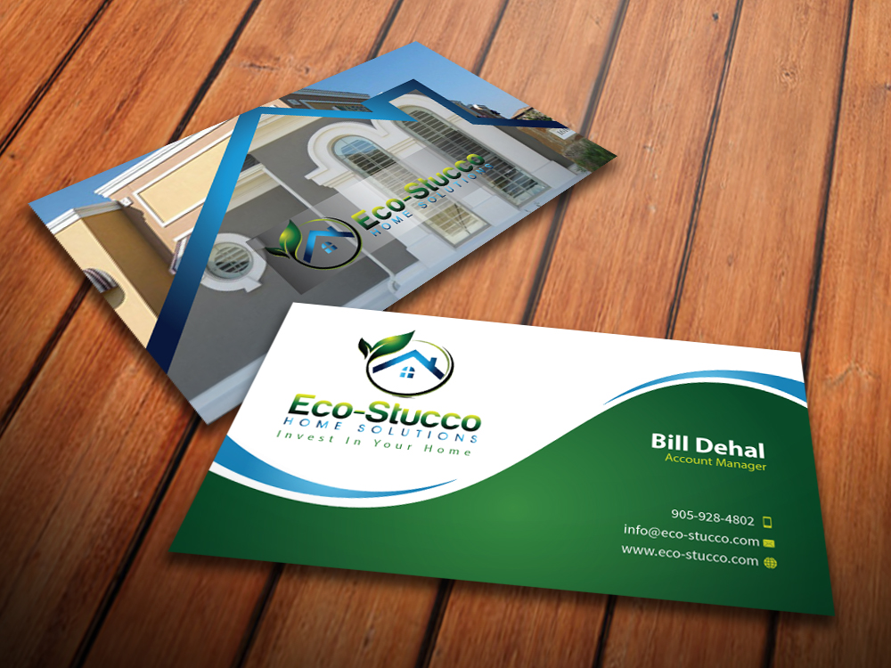 Business Card Design by mediaproductionart - Entry No. 53 in the Business Card Design Contest Inspiring Business Card Design for Eco-Stucco Home Solutions.