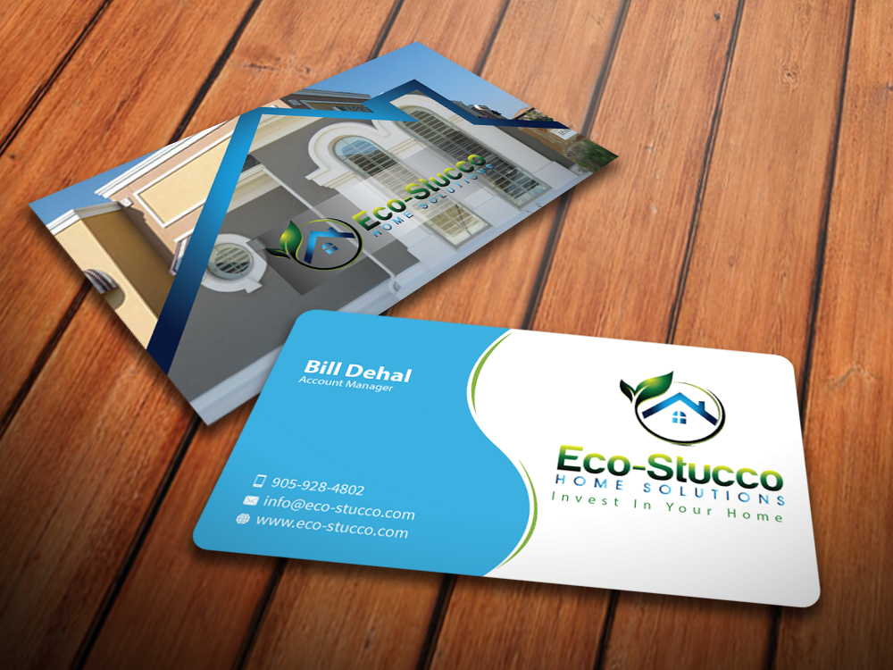 Business Card Design by mediaproductionart - Entry No. 54 in the Business Card Design Contest Inspiring Business Card Design for Eco-Stucco Home Solutions.