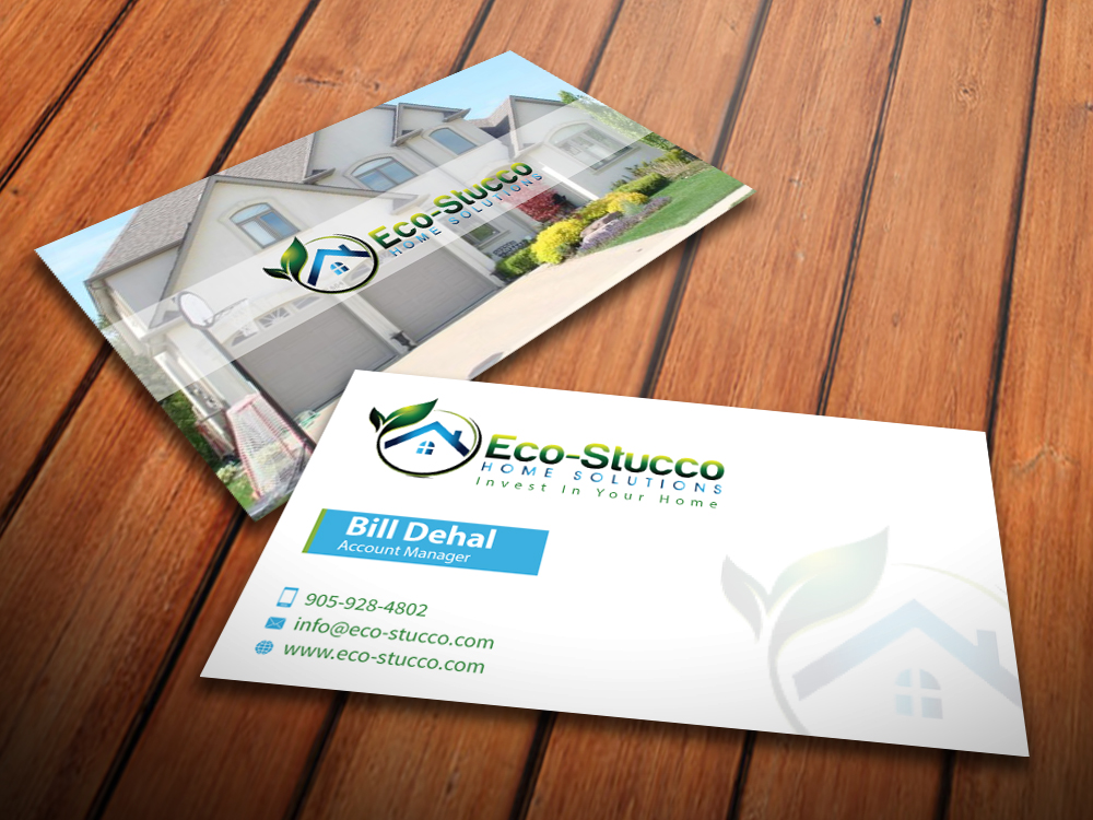 Business Card Design by mediaproductionart - Entry No. 55 in the Business Card Design Contest Inspiring Business Card Design for Eco-Stucco Home Solutions.