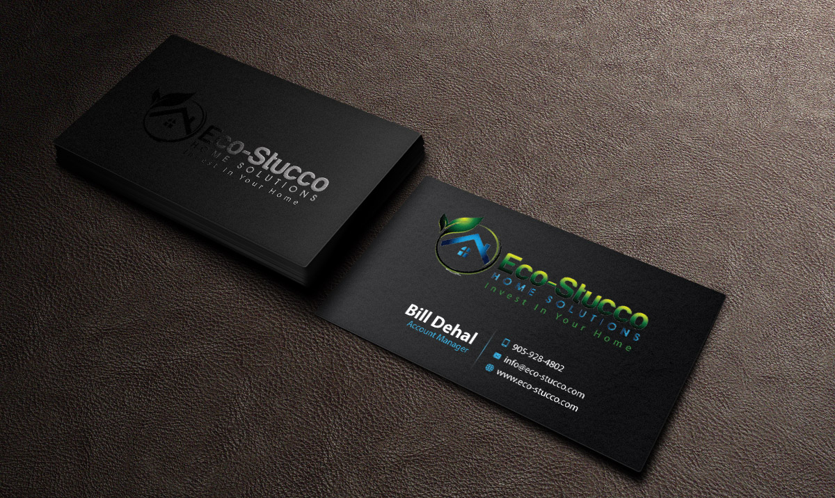 Business Card Design by mediaproductionart - Entry No. 56 in the Business Card Design Contest Inspiring Business Card Design for Eco-Stucco Home Solutions.