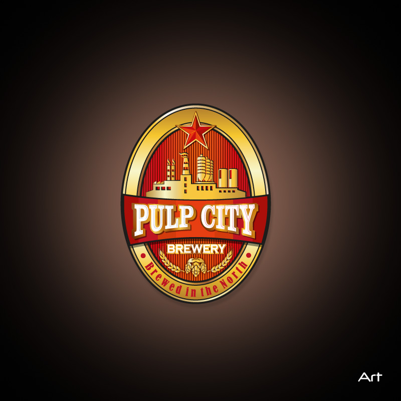 Logo Design by Puspita Wahyuni - Entry No. 94 in the Logo Design Contest Artistic Logo Design for Pulp City Brewery.