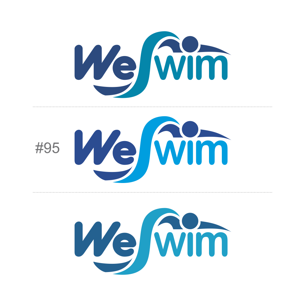 Logo Design by Private User - Entry No. 117 in the Logo Design Contest Captivating Logo Design for We Swim.