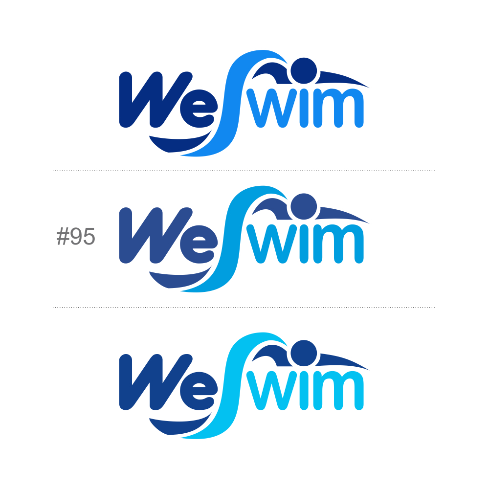 Logo Design by Private User - Entry No. 118 in the Logo Design Contest Captivating Logo Design for We Swim.