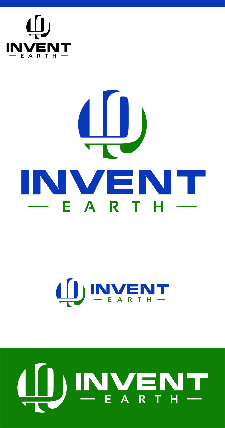 Logo Design by RasYa Muhammad Athaya - Entry No. 16 in the Logo Design Contest Artistic Logo Design for Invent Earth.