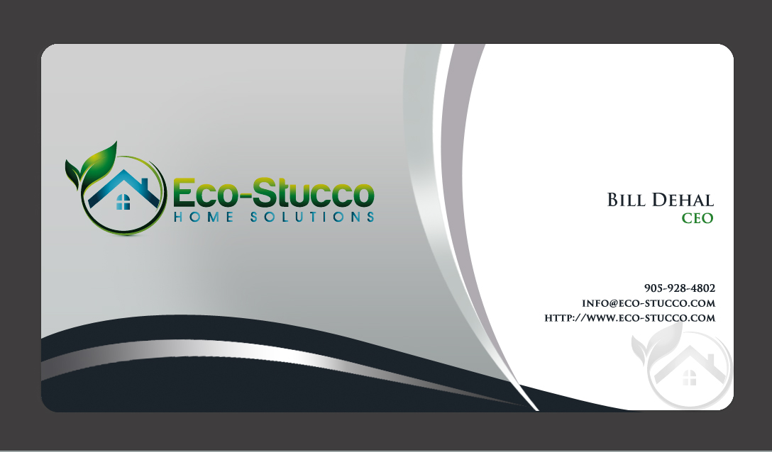 Business Card Design by Crystal Desizns - Entry No. 59 in the Business Card Design Contest Inspiring Business Card Design for Eco-Stucco Home Solutions.
