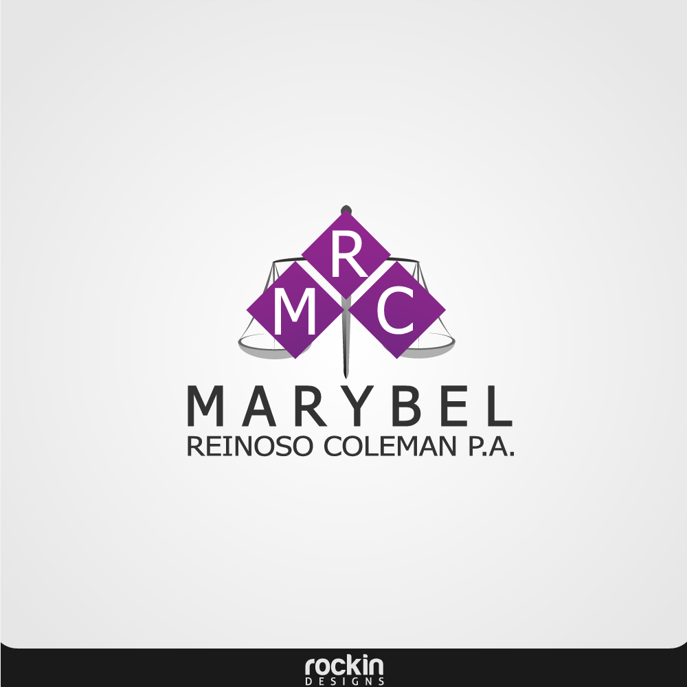 Logo Design by rockin - Entry No. 3 in the Logo Design Contest Creative Logo Design for Marybel Reinoso Coleman P.A..