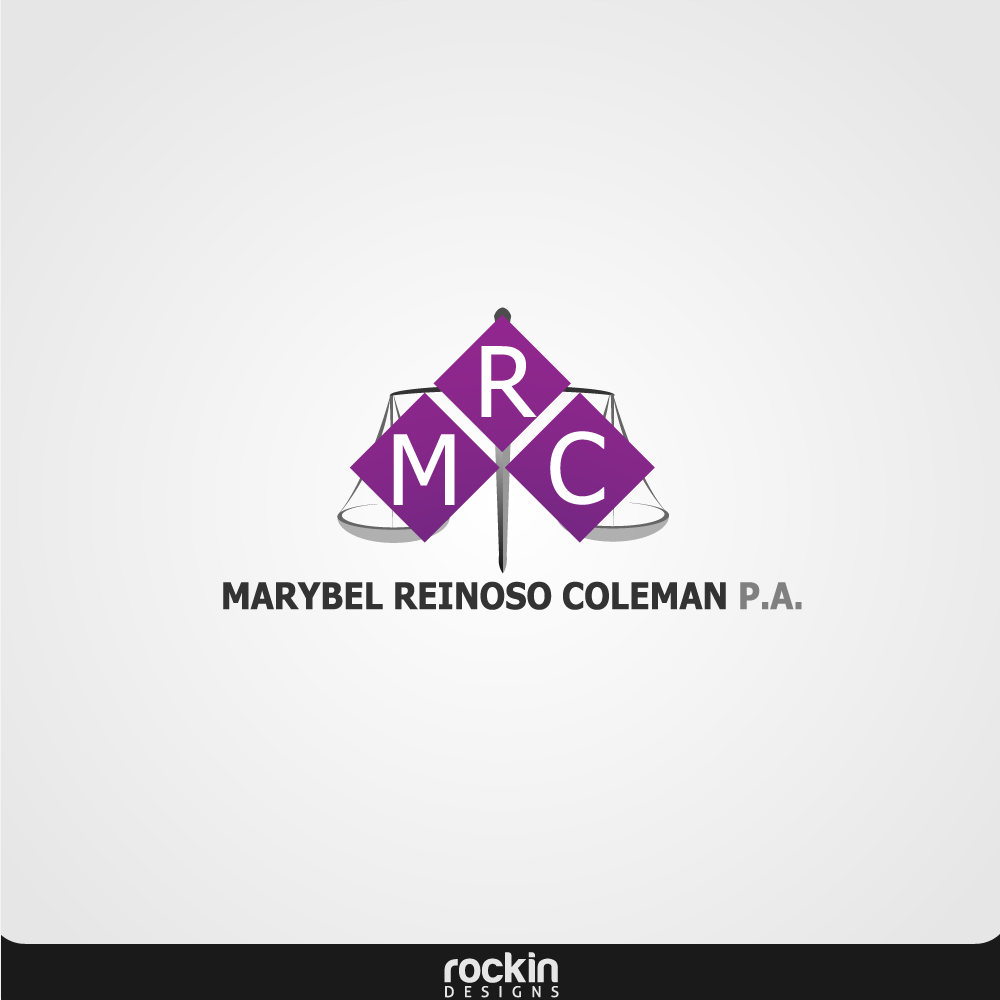 Logo Design by rockin - Entry No. 4 in the Logo Design Contest Creative Logo Design for Marybel Reinoso Coleman P.A..