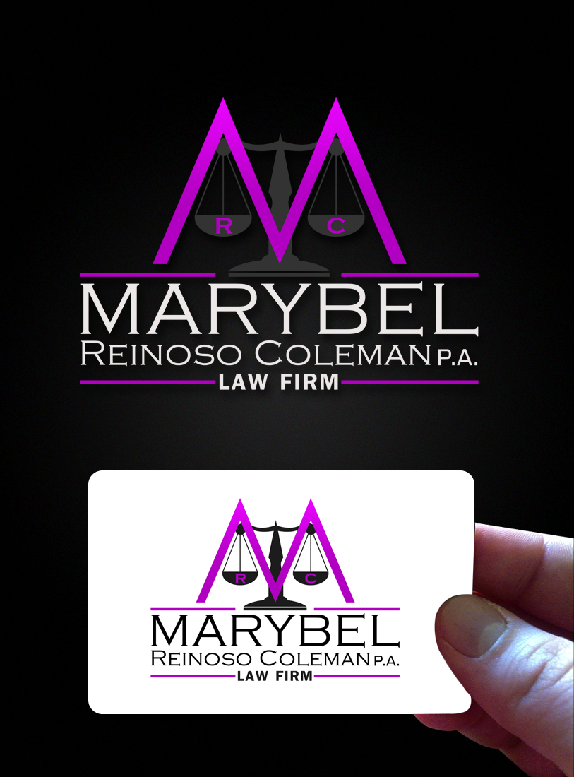 Logo Design by Private User - Entry No. 6 in the Logo Design Contest Creative Logo Design for Marybel Reinoso Coleman P.A..