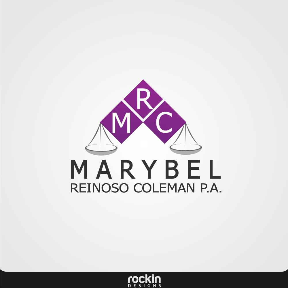 Logo Design by rockin - Entry No. 11 in the Logo Design Contest Creative Logo Design for Marybel Reinoso Coleman P.A..
