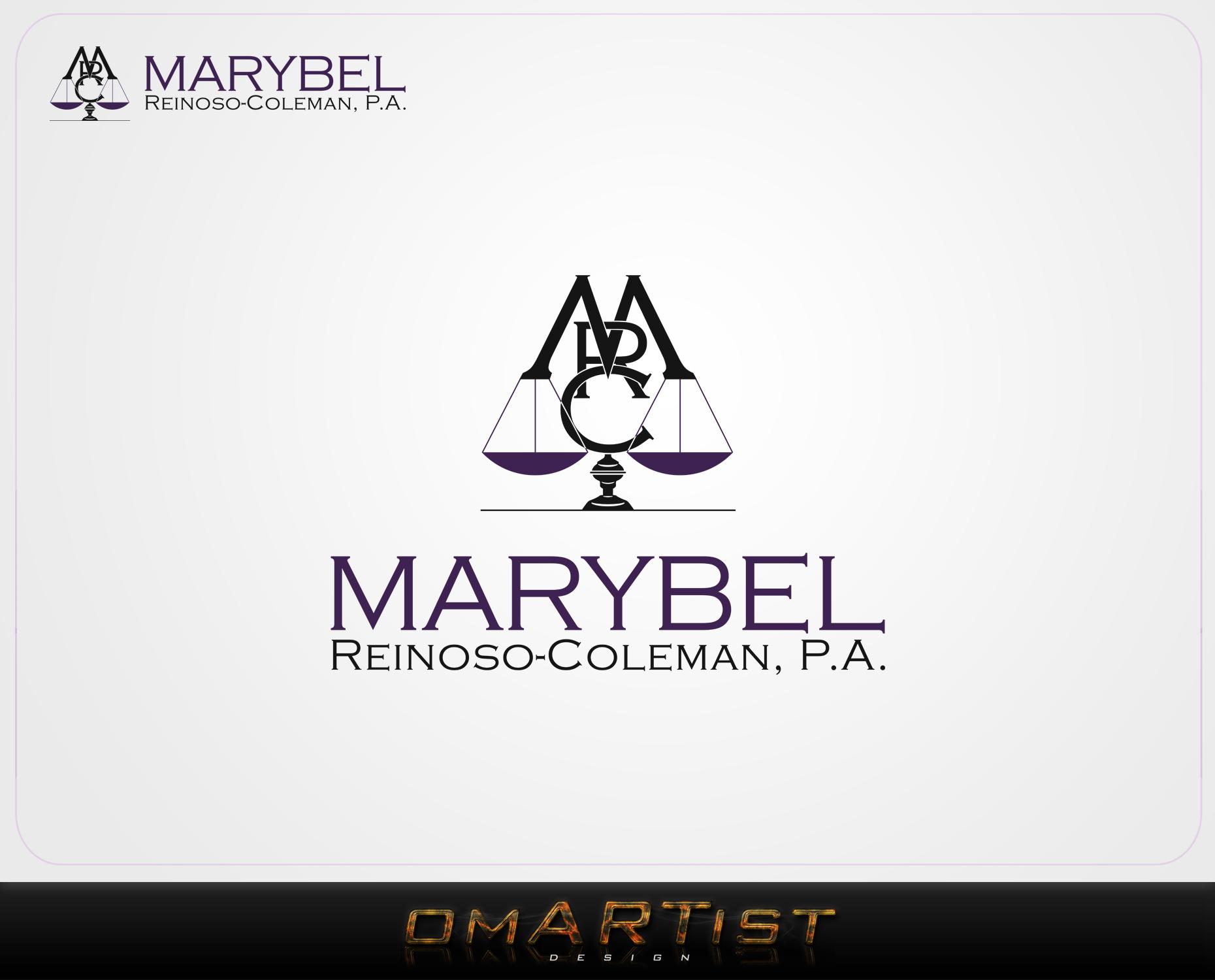 Logo Design by omARTist - Entry No. 15 in the Logo Design Contest Creative Logo Design for Marybel Reinoso Coleman P.A..