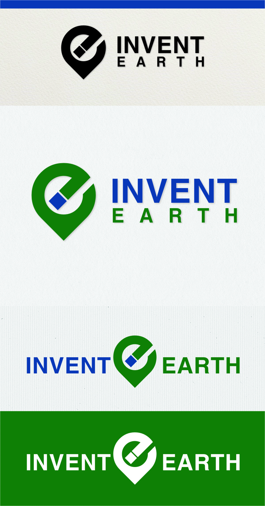 Logo Design by RasYa Muhammad Athaya - Entry No. 52 in the Logo Design Contest Artistic Logo Design for Invent Earth.