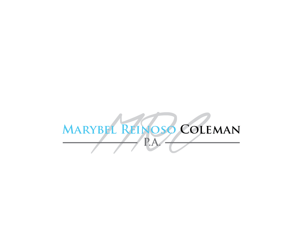Logo Design by roc - Entry No. 16 in the Logo Design Contest Creative Logo Design for Marybel Reinoso Coleman P.A..