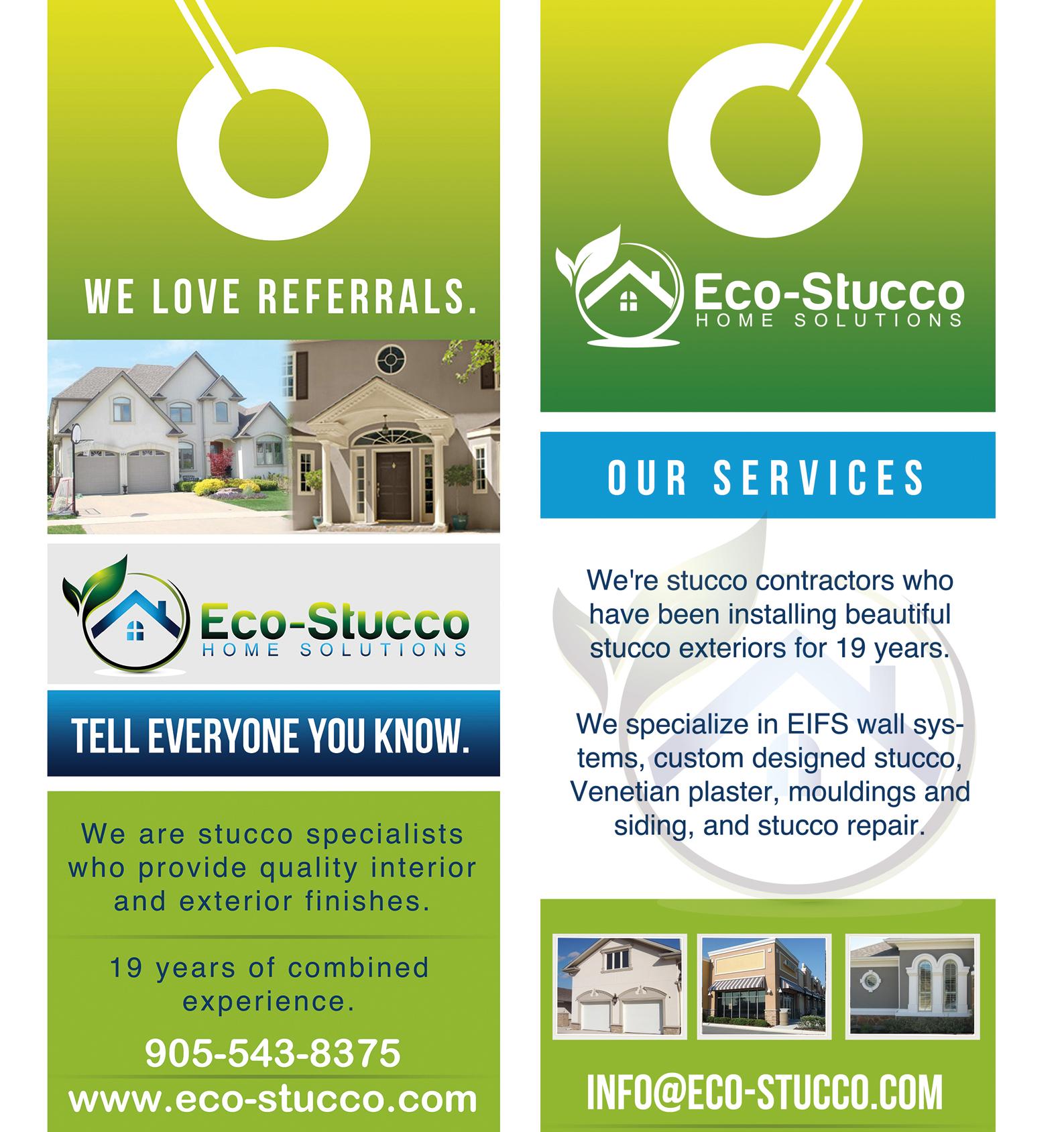 Custom Design by mediaproductionart - Entry No. 26 in the Custom Design Contest Eco-Stucco Home Solutions Custom Design.