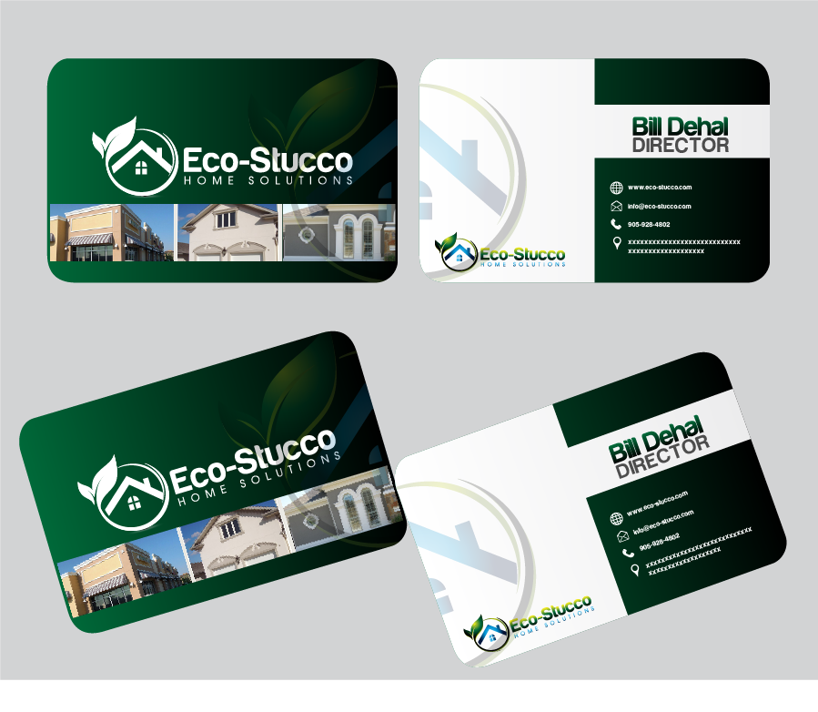 Business Card Design by Private User - Entry No. 61 in the Business Card Design Contest Inspiring Business Card Design for Eco-Stucco Home Solutions.