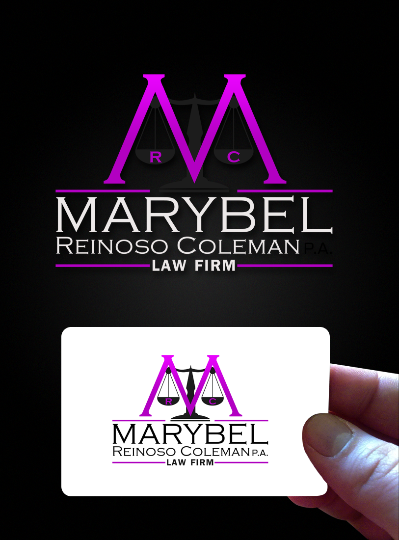 Logo Design by Private User - Entry No. 20 in the Logo Design Contest Creative Logo Design for Marybel Reinoso Coleman P.A..