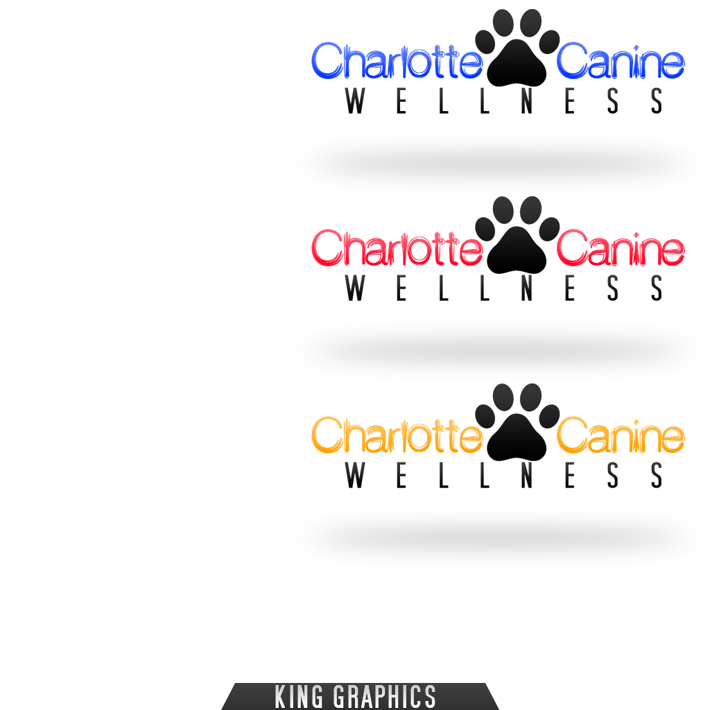 Logo Design by KingCustoms - Entry No. 6 in the Logo Design Contest New Logo Design for Charlotte Canine Wellness.