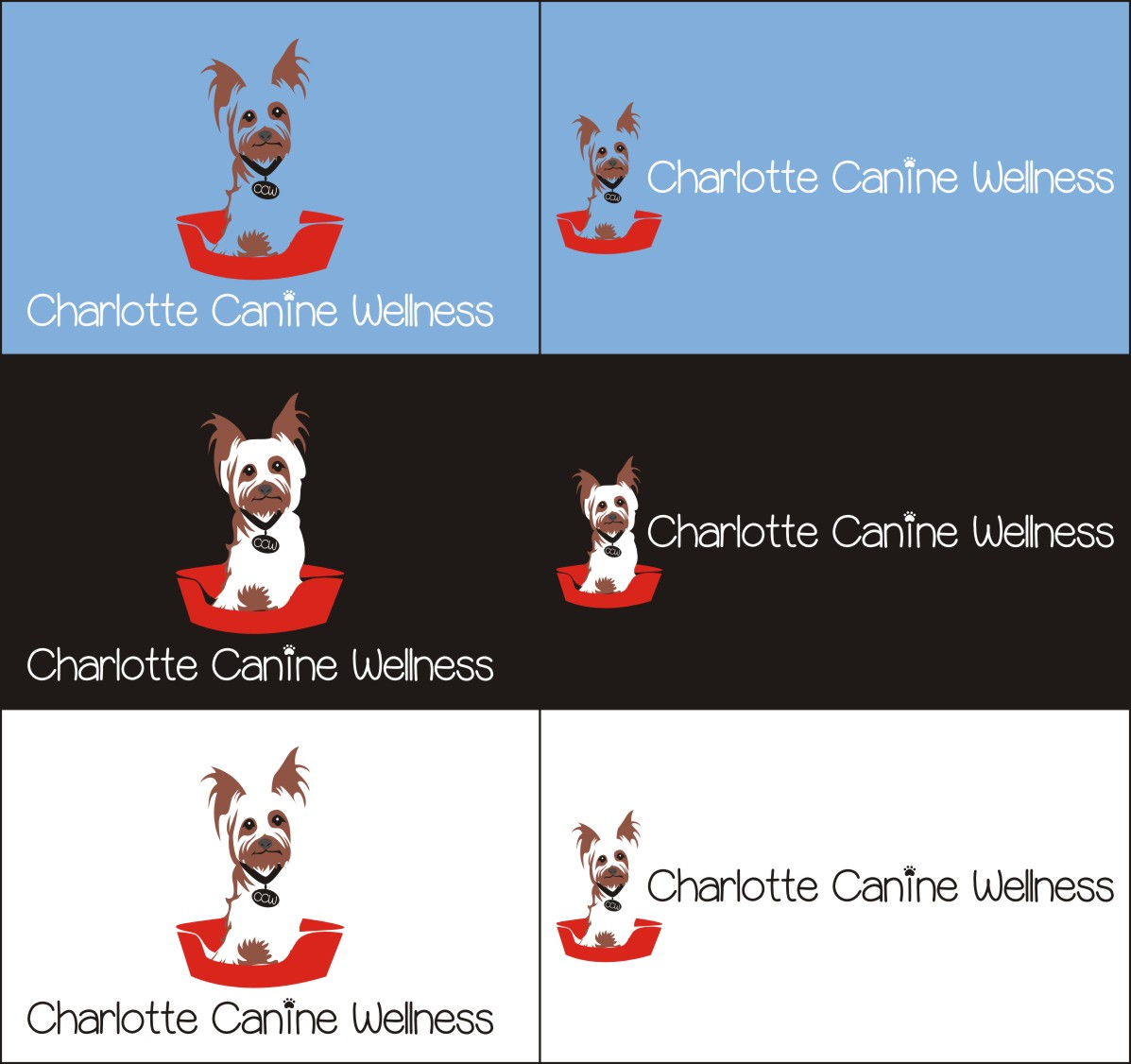 Logo Design by Fariz Arianto - Entry No. 7 in the Logo Design Contest New Logo Design for Charlotte Canine Wellness.