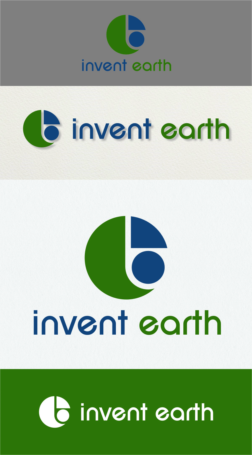 Logo Design by RasYa Muhammad Athaya - Entry No. 85 in the Logo Design Contest Artistic Logo Design for Invent Earth.