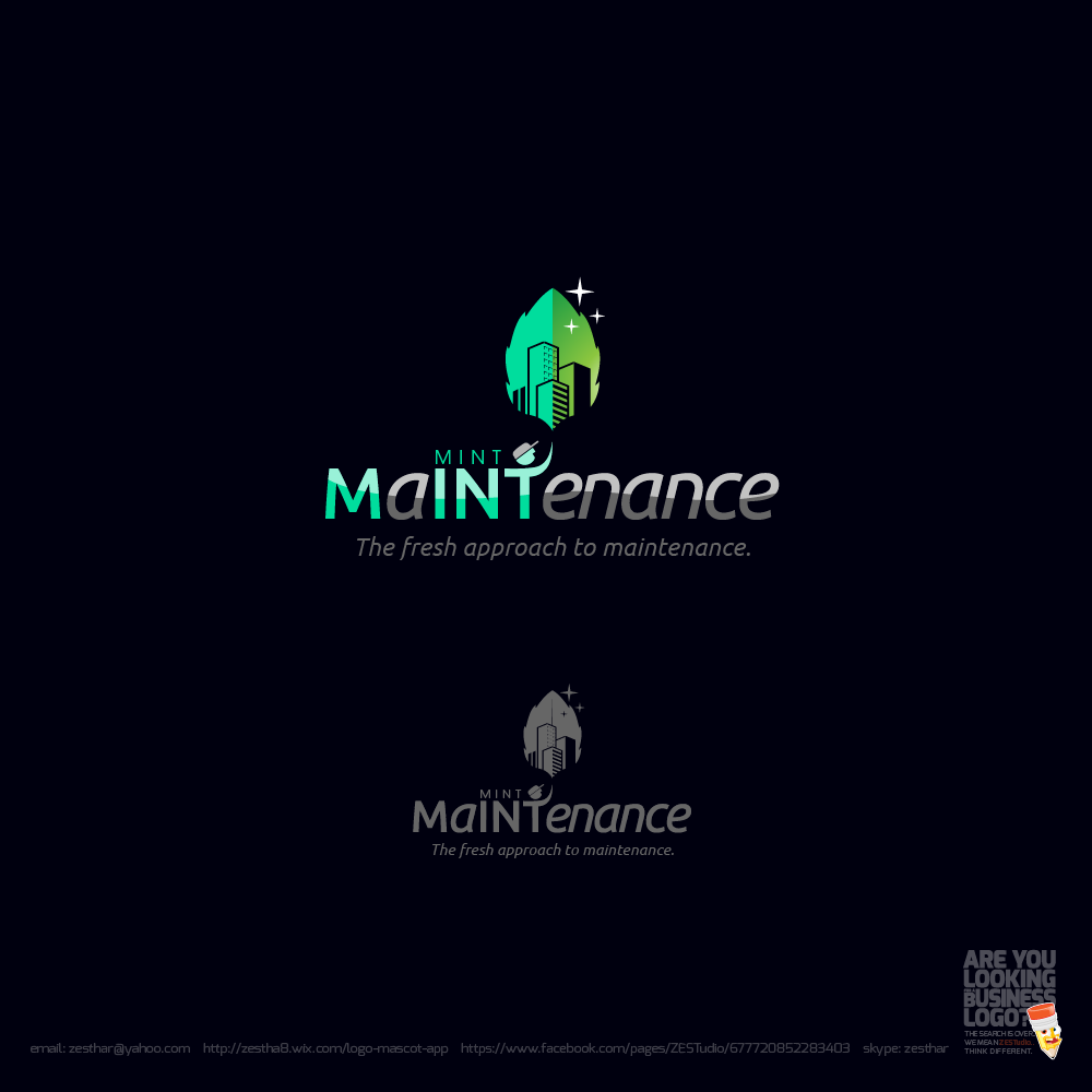 Logo Design by zesthar - Entry No. 205 in the Logo Design Contest Creative Logo Design for Mint Maintenance.