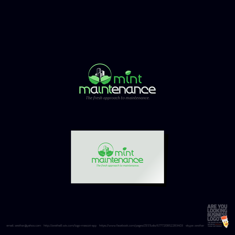 Logo Design by zesthar - Entry No. 207 in the Logo Design Contest Creative Logo Design for Mint Maintenance.