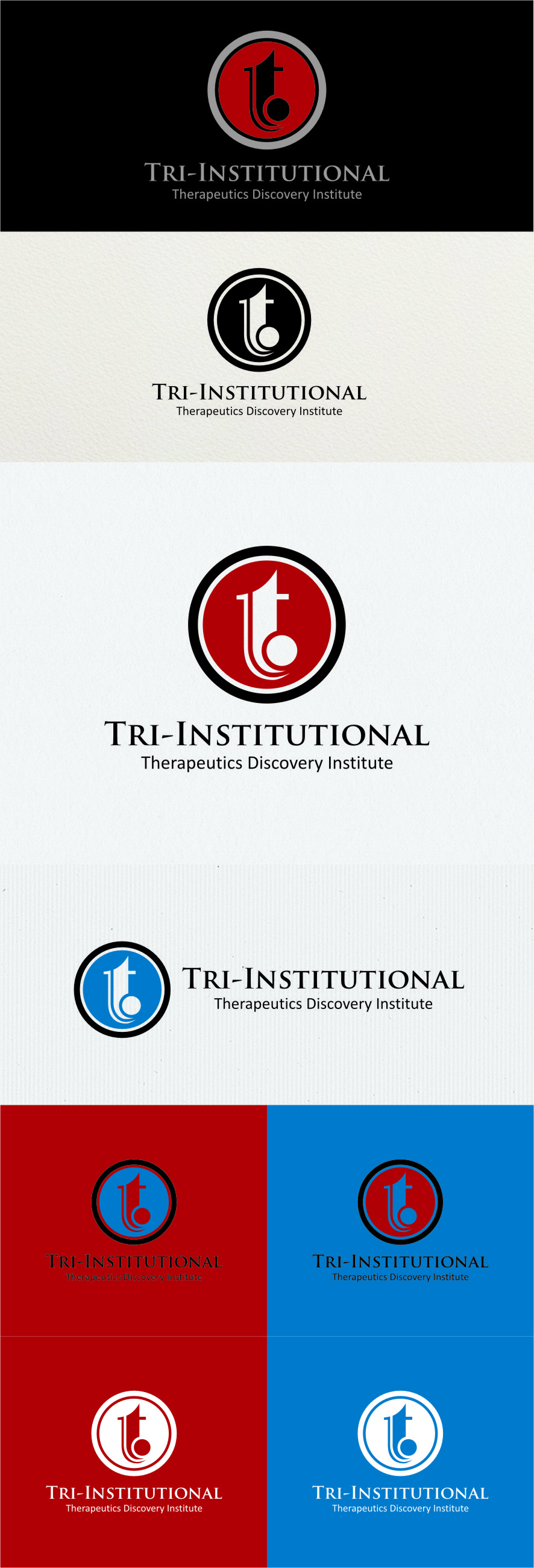 Logo Design by Ngepet_art - Entry No. 89 in the Logo Design Contest Inspiring Logo Design for Tri-Institutional Therapeutics Discovery Institute.
