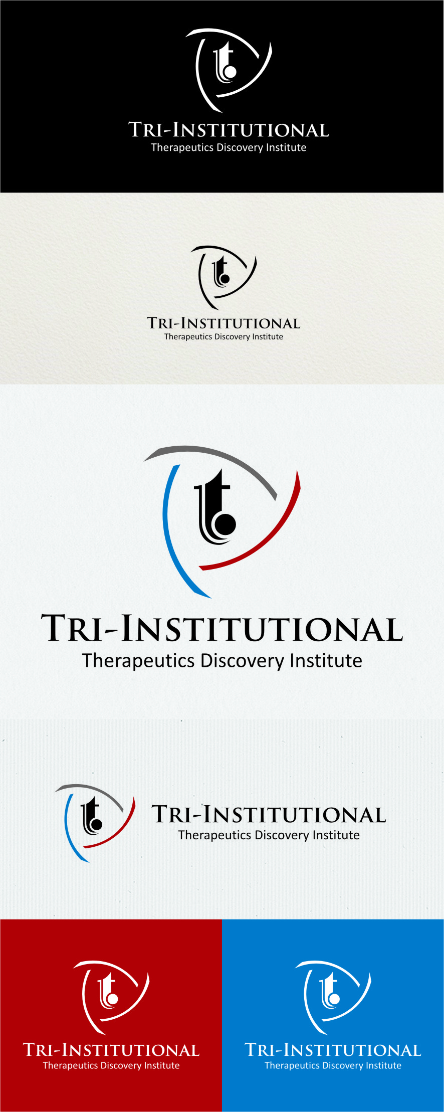 Logo Design by RasYa Muhammad Athaya - Entry No. 90 in the Logo Design Contest Inspiring Logo Design for Tri-Institutional Therapeutics Discovery Institute.