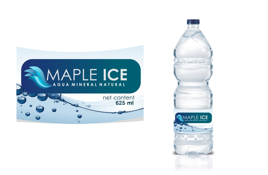 Packaging Design by Private User - Entry No. 6 in the Packaging Design Contest Unique Label/Packaging Design Wanted for Premium Bottled Water (Maple Ice).