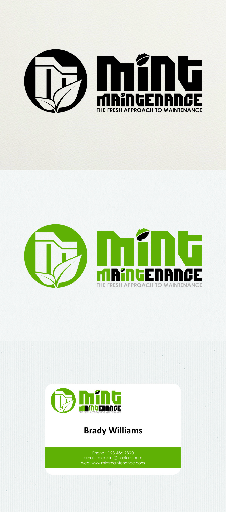 Logo Design by RasYa Muhammad Athaya - Entry No. 225 in the Logo Design Contest Creative Logo Design for Mint Maintenance.