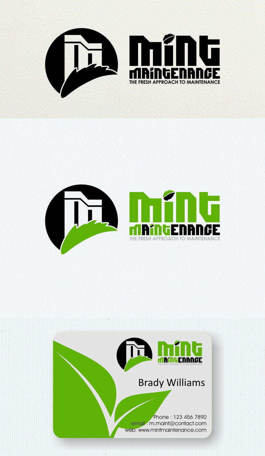 Logo Design by RasYa Muhammad Athaya - Entry No. 226 in the Logo Design Contest Creative Logo Design for Mint Maintenance.
