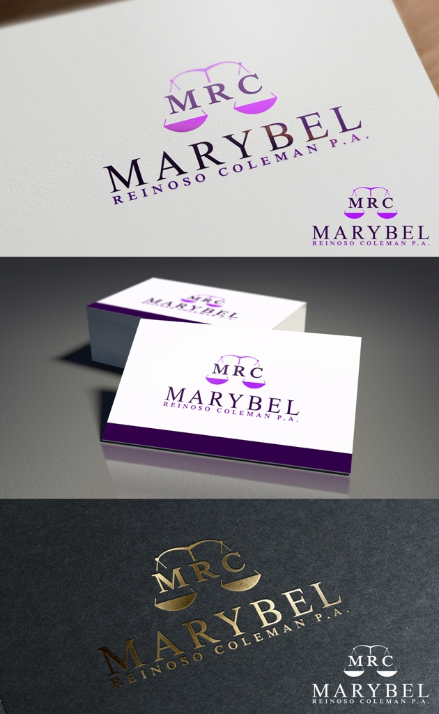 Logo Design by Juan_Kata - Entry No. 33 in the Logo Design Contest Creative Logo Design for Marybel Reinoso Coleman P.A..