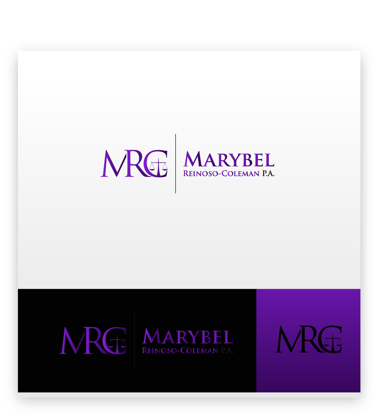 Logo Design by zoiDesign - Entry No. 34 in the Logo Design Contest Creative Logo Design for Marybel Reinoso Coleman P.A..