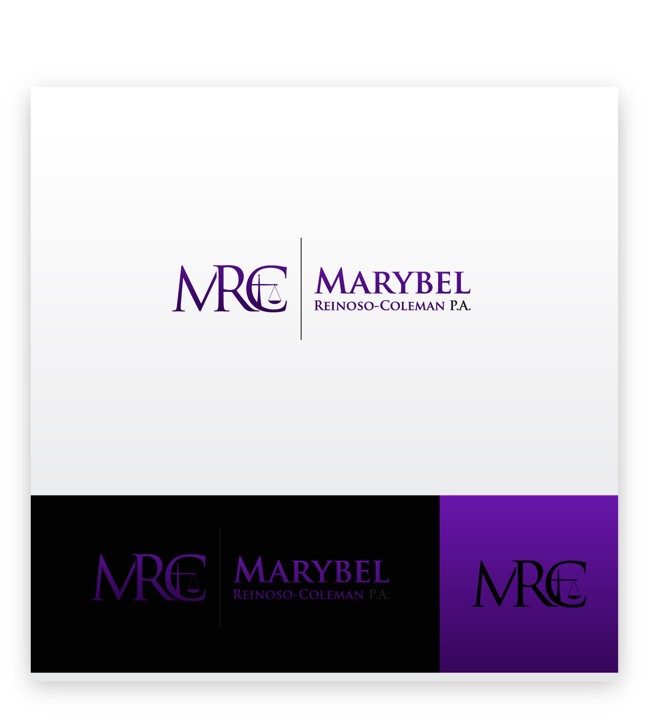 Logo Design by zoiDesign - Entry No. 37 in the Logo Design Contest Creative Logo Design for Marybel Reinoso Coleman P.A..