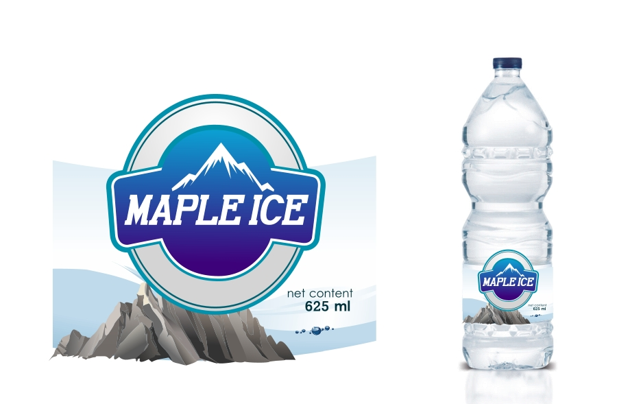 Packaging Design by Private User - Entry No. 7 in the Packaging Design Contest Unique Label/Packaging Design Wanted for Premium Bottled Water (Maple Ice).
