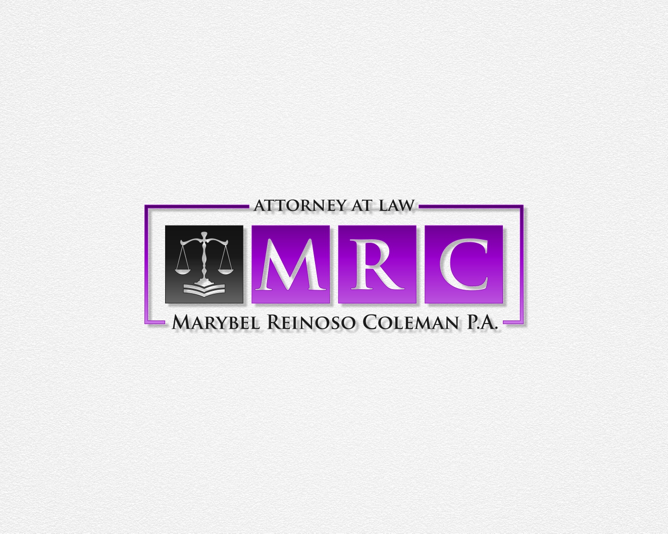Logo Design by Rares.Andrei - Entry No. 39 in the Logo Design Contest Creative Logo Design for Marybel Reinoso Coleman P.A..