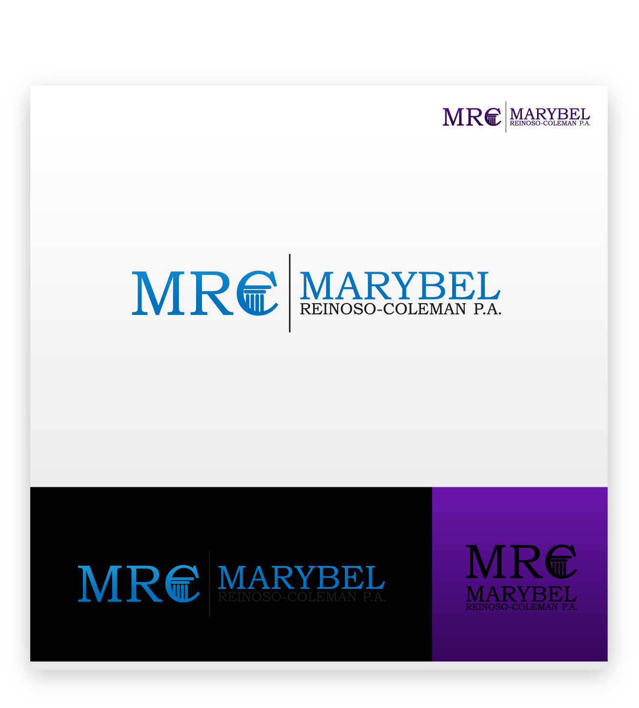Logo Design by zoiDesign - Entry No. 41 in the Logo Design Contest Creative Logo Design for Marybel Reinoso Coleman P.A..
