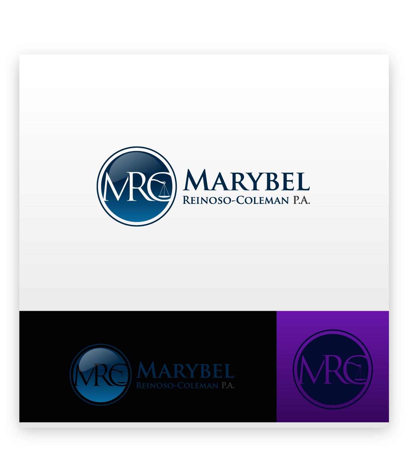 Logo Design by zoiDesign - Entry No. 45 in the Logo Design Contest Creative Logo Design for Marybel Reinoso Coleman P.A..
