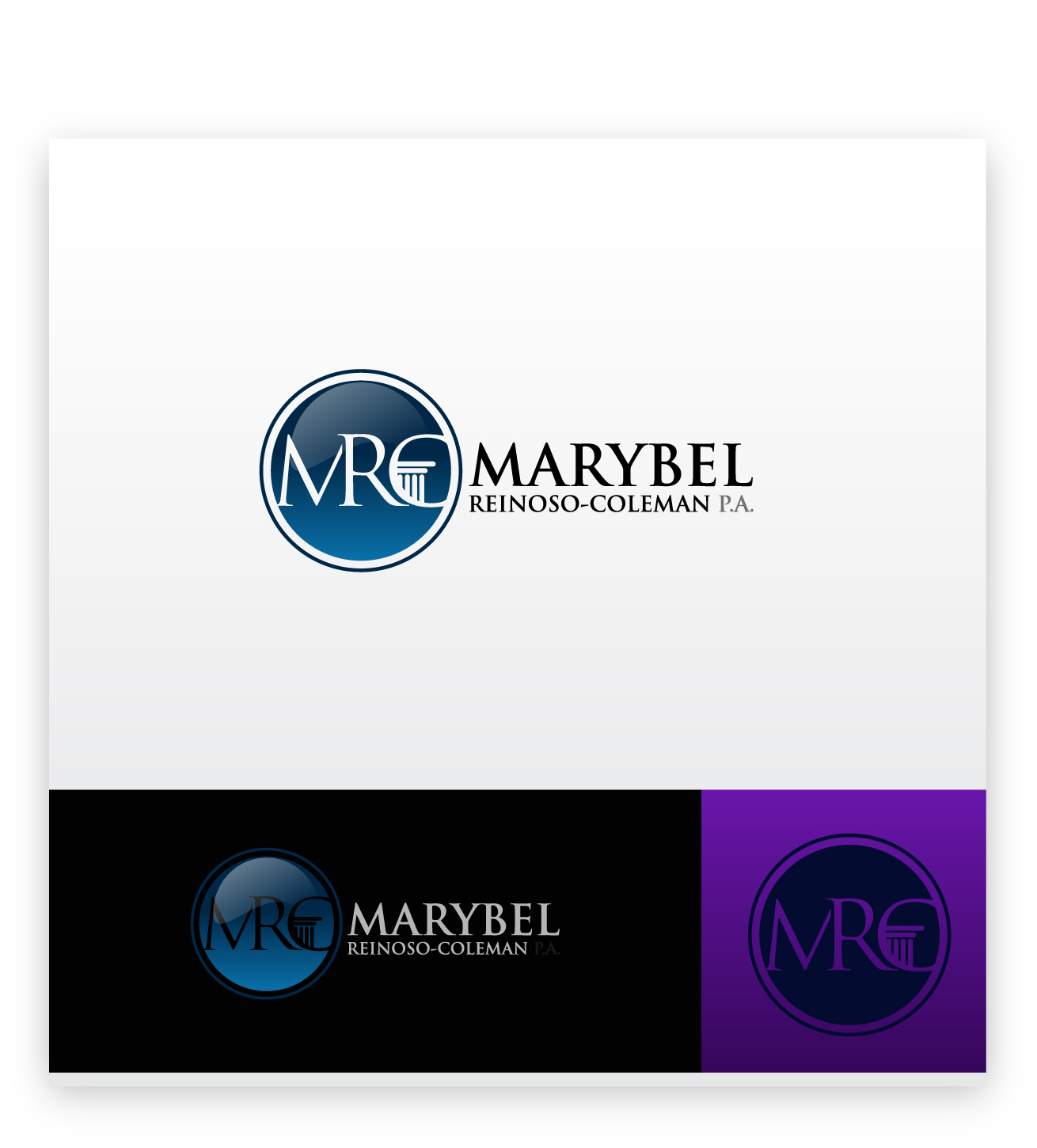 Logo Design by zoiDesign - Entry No. 47 in the Logo Design Contest Creative Logo Design for Marybel Reinoso Coleman P.A..
