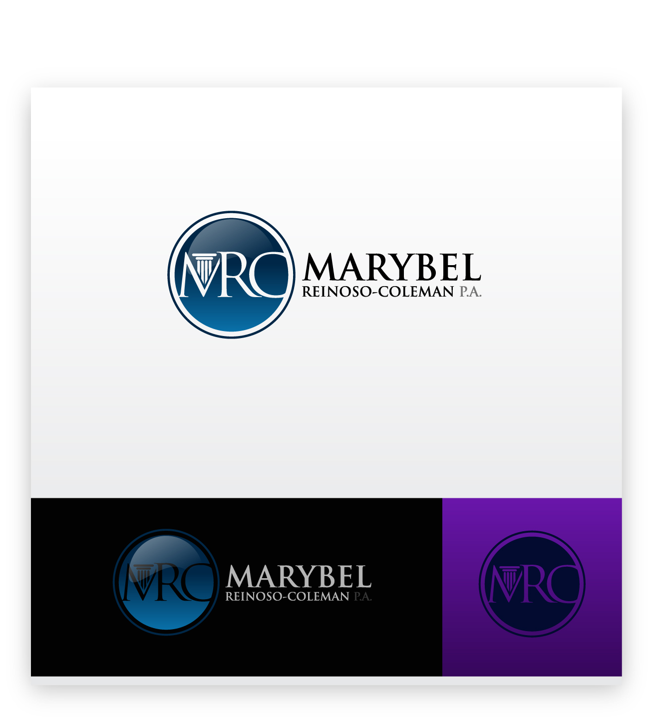 Logo Design by zoiDesign - Entry No. 48 in the Logo Design Contest Creative Logo Design for Marybel Reinoso Coleman P.A..
