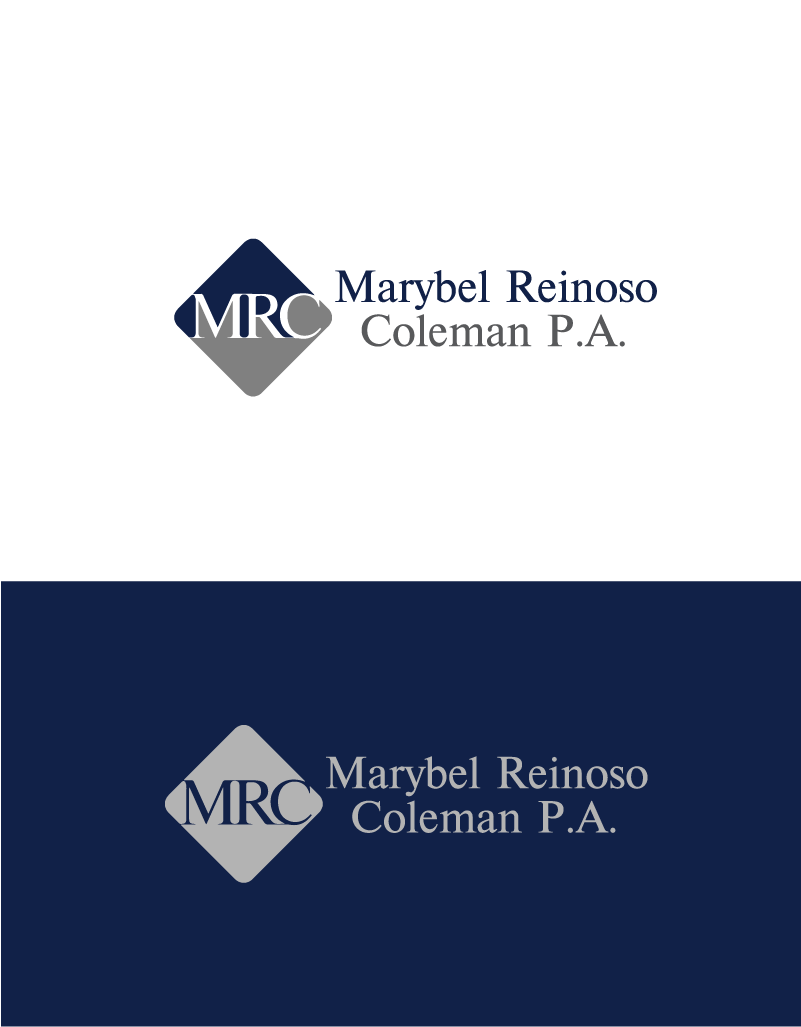 Logo Design by Private User - Entry No. 50 in the Logo Design Contest Creative Logo Design for Marybel Reinoso Coleman P.A..