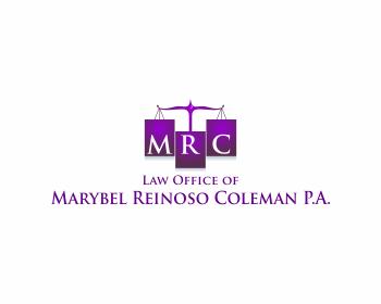Logo Design by Chaezar Sadmoko - Entry No. 58 in the Logo Design Contest Creative Logo Design for Marybel Reinoso Coleman P.A..