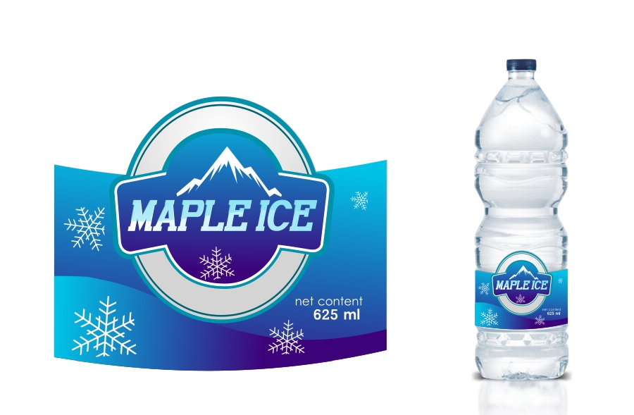 Packaging Design by Private User - Entry No. 11 in the Packaging Design Contest Unique Label/Packaging Design Wanted for Premium Bottled Water (Maple Ice).