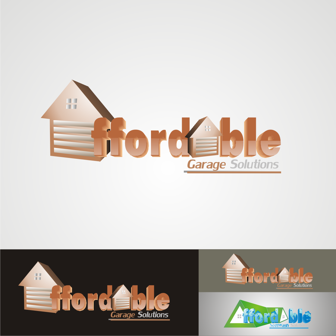 Logo Design by Nthus Nthis - Entry No. 9 in the Logo Design Contest Captivating Logo Design for affordable garage solutions.