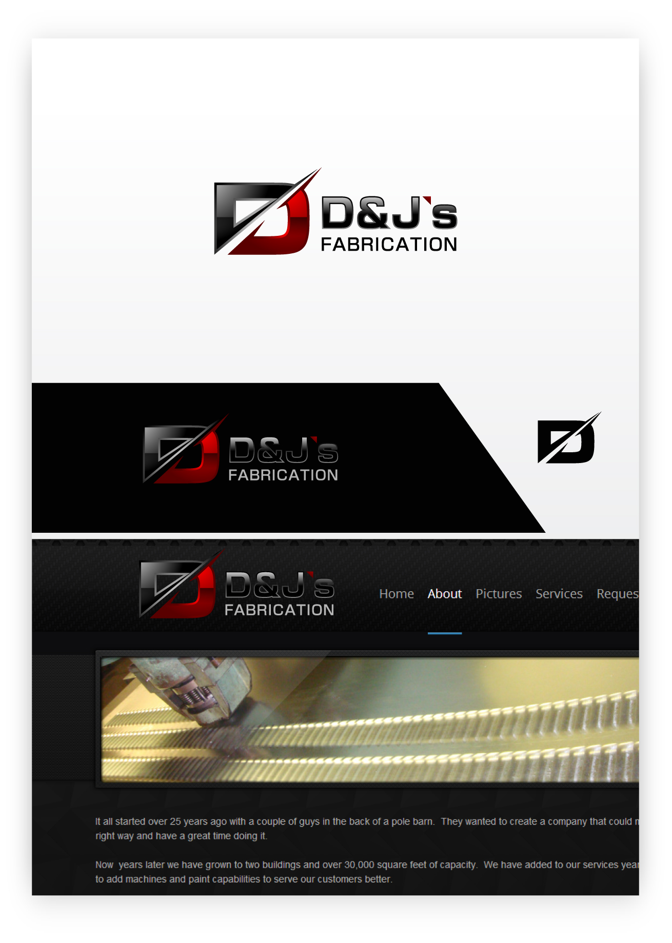 Logo Design by zoiDesign - Entry No. 1 in the Logo Design Contest Creative Logo Design for D & J's Precision Machine Services.