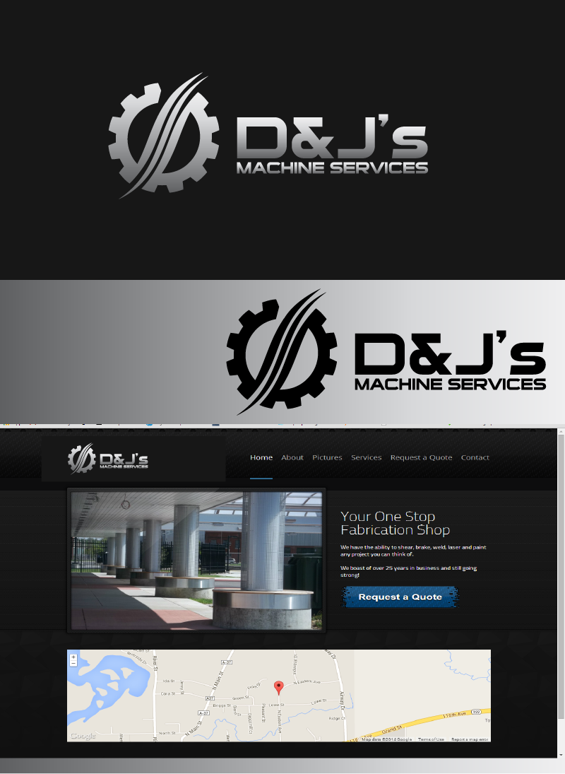 Logo Design by Private User - Entry No. 3 in the Logo Design Contest Creative Logo Design for D & J's Precision Machine Services.