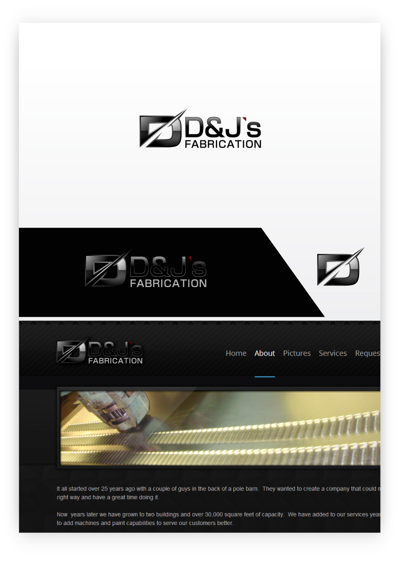 Logo Design by zoiDesign - Entry No. 7 in the Logo Design Contest Creative Logo Design for D & J's Precision Machine Services.