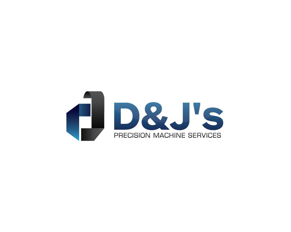Logo Design by roc - Entry No. 8 in the Logo Design Contest Creative Logo Design for D & J's Precision Machine Services.